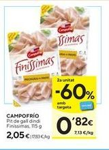 Oferta de Jamón Campofrío por 2,05€