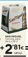 Oferta de Cerveza San Miguel por 2,81€