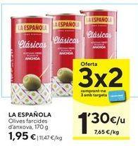 Oferta de Aceitunas rellenas de anchoa La Española por 1,95€