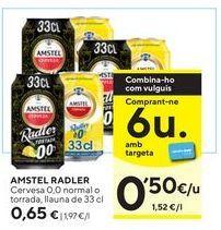 Oferta de Cerveza sin alcohol Amstel por 0,65€