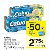 Oferta de Atún claro Calvo por 5,5€