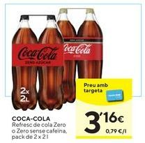 Oferta de Refresco de cola Coca-Cola por 3,16€