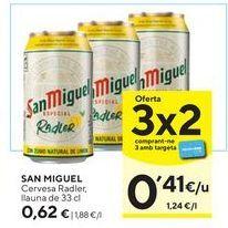 Oferta de Cerveza con limón San Miguel por 0,62€