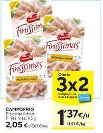 Oferta de Pechuga de pavo Campofrío por 2,05€