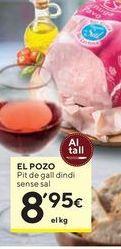 Oferta de Pechuga de pavo El Pozo por 8,95€