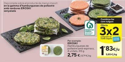 Oferta de Hamburguesas eroski por 2,75€