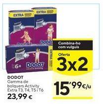 Oferta de Pañales Dodot por 23,99€