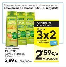 Oferta de Champú Fructis por 3,89€