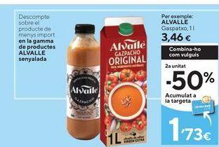 Oferta de Gazpacho Alvalle por 3,46€