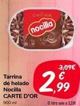 Oferta de Tarrina de helado Nocilla CARTE D'OR  por 2,99€