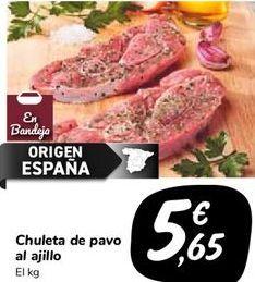 Oferta de Chuleta de pavo al ajillo  por 5,65€