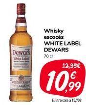 Oferta de Whisky escocés WHITE LABEL DEWARS  por 10,99€