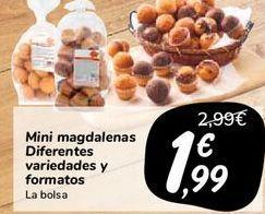 Oferta de Mini magdalenas diferentes y formatos  por 1,99€