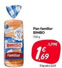 Oferta de Pan familiar BIMBO  por 1,69€