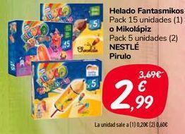 Oferta de Helado Fantasmikos o Mikolápiz NESTLÉ Pirulo  por 2,99€