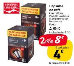 Oferta de Cápsulas de café Carrefour  por 4,85€
