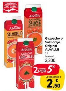 Oferta de Gazpacho o Salmorejo Original ALVALLE  por 3,3€