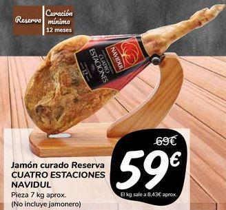 Oferta de Jamón curado Reserva CUATRO ESTACIONES NAVIDUL  por 59€