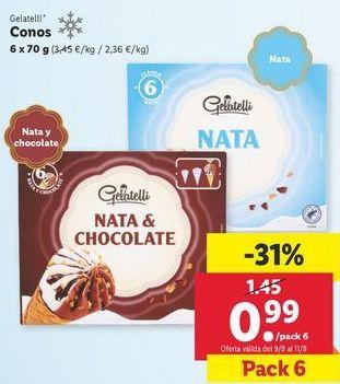 Oferta de Helados Gelatelli por 0,99€