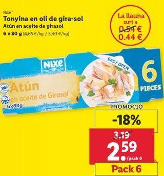 Oferta de Atún en aceite de girasol nixe por 2,59€