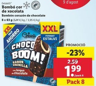 Oferta de Bombón helado Gelatelli por 1,99€