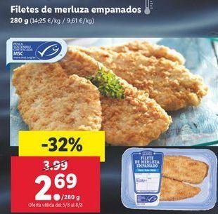 Oferta de Filetes de merluza por 2,69€