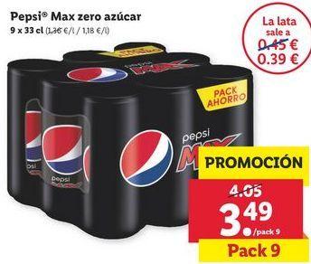 Oferta de Pepsi Zero por 3,49€