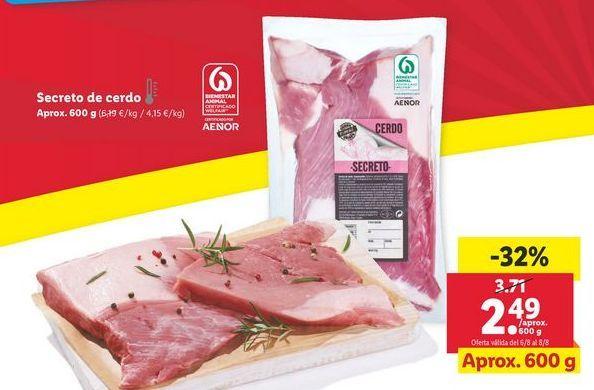 Oferta de Secreto de cerdo por 2,49€