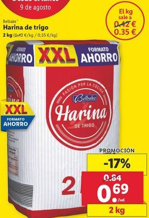 Oferta de Harina de trigo Belbake por 0,69€