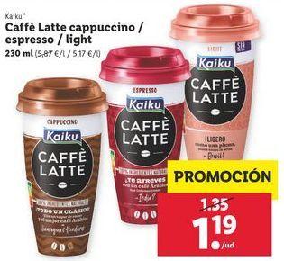 Oferta de Café helado Kaiku por 1,19€