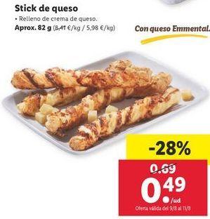 Oferta de Snacks por 0,49€