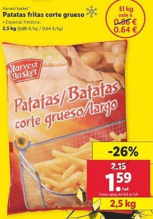 Oferta de Patatas fritas Harvest Basket por 1,59€
