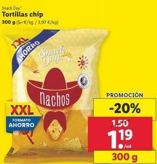 Oferta de Tortillas chips Snack Day por 1,19€