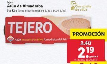 Oferta de Atún Tejero por 2,19€