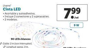 Oferta de Luz led Livarno por 7,99€