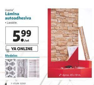 Oferta de Lámina adhesiva Livarno por 5,99€