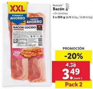 Oferta de Bacon Realvalle por 3,49€