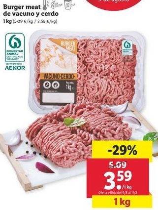 Oferta de Carne picada por 3,59€