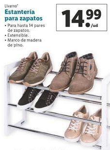 Oferta de Estantería para zapatos Livarno por 14,99€
