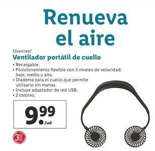 Oferta de Ventilador portátil de cuello Silvercrest por 9,99€