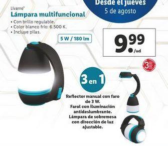 Oferta de Lámpara multifuncional Livarno por 9,99€