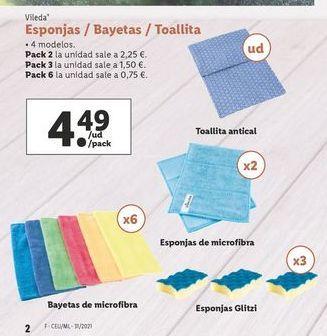 Oferta de Esponja Vileda por 4,49€