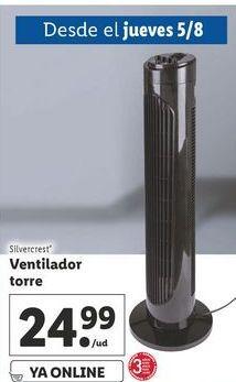 Oferta de Ventilador de suelo silvercrest por 24,99€