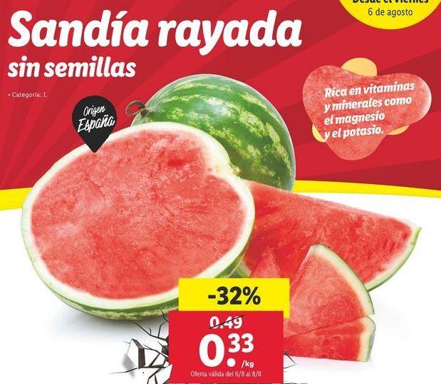 Oferta de Sandía por 0,33€