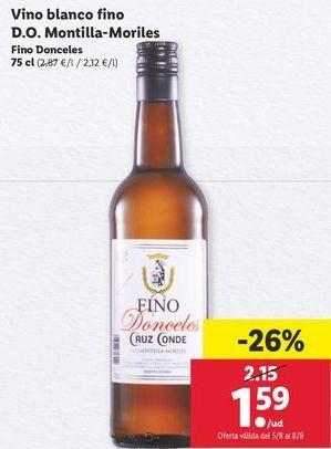 Oferta de Vino blanco por 1,59€