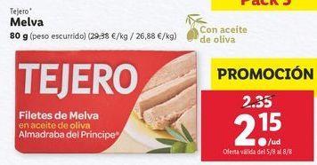 Oferta de Melva en aceite Tejero por 2,15€