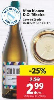 Oferta de Vino blanco Coto de Ibedo por 2,99€