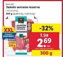 Oferta de Jamón serrano Realvalle por 2,69€