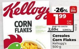 Oferta de Cereales Kellogg's por 1,99€
