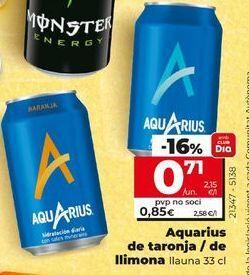 Oferta de Bebida isotónica Aquarius por 0,71€